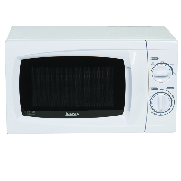 Igenix 20 Litre 700w Manual Microwave White IG20701
