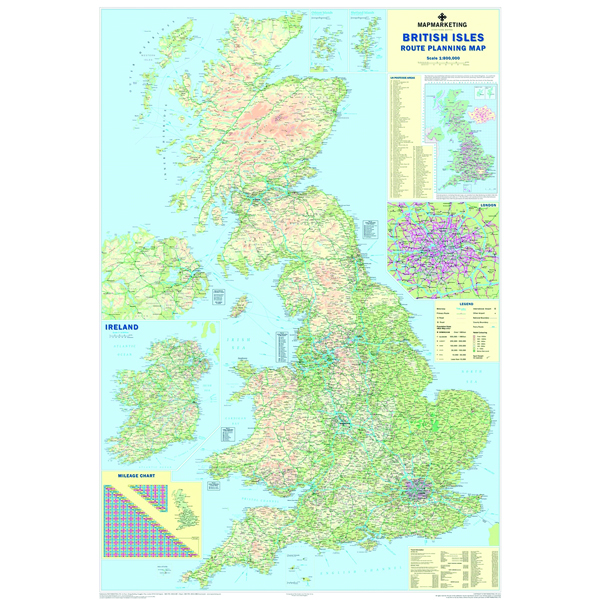 Image for Map Marketing British Isles Motoring Laminated Map BIM