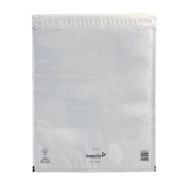 Mail Lite Tuff Bubble Lined Polyethylene Mailer Size K/7 350x470mm White (Pack of 50) 103015256