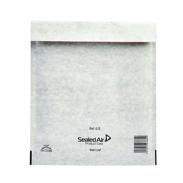 Mail Lite Bubble Lined Size E/2 220x260mm White Postal Bag (Pack of 100) MLW E/2