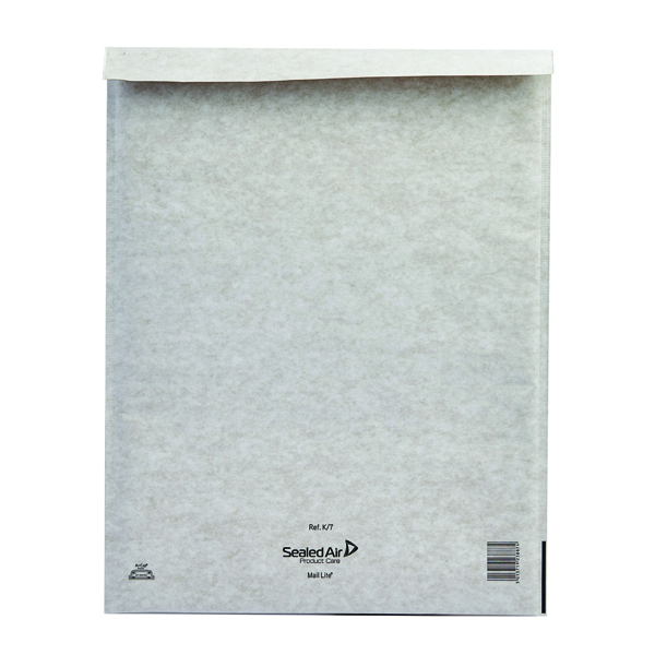 Mail Lite Bubble Lined Size K/7 350x470mm White Postal Bag (Pack of 50) MLW K/7