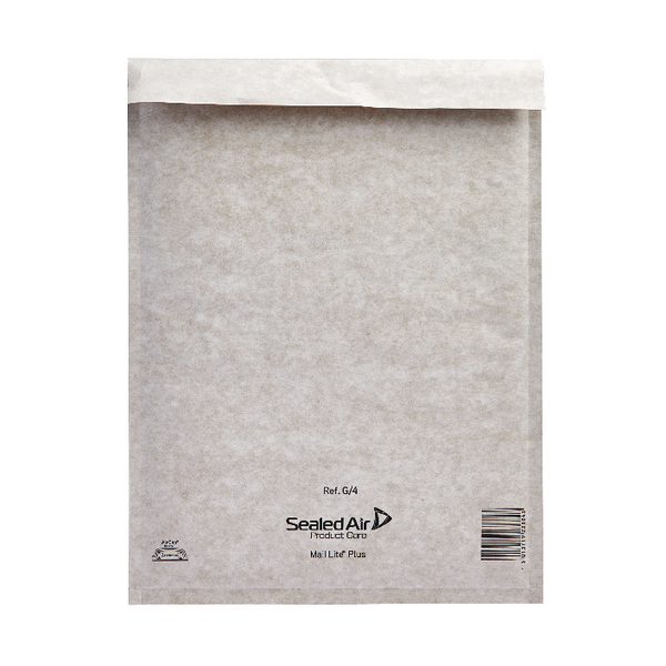 Mail Lite Plus Bubble Lined Size G/4 240x330mm Oyster White Postal Bag (Pack of 50) 103025659