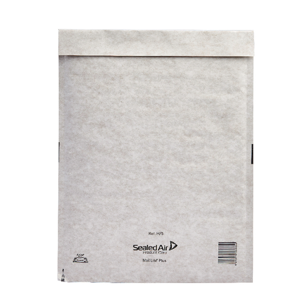 Mail Lite Plus Bubble Lined Size H/5 270x360mm Oyster White Postal Bag (Pack of 50) 103025660