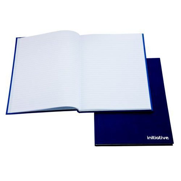Image for Initiative Manuscript Book Feint Ruled 192 pages A5 70gsm Blue