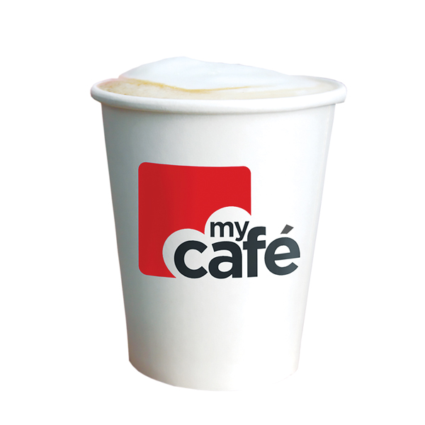 MyCafe 8oz Single Wall Hot Cups Pk50