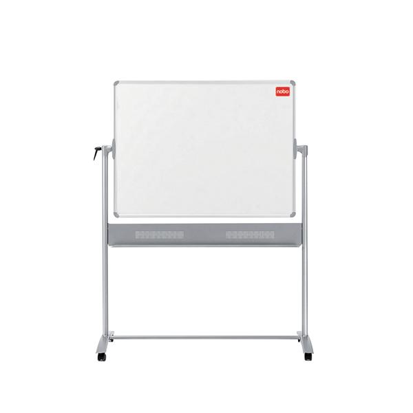 Nobo Mobile Steel Magnetic Horizontal Whiteboard 1500x1200mm 1901031