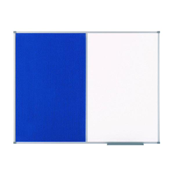 Nobo Drywipe and Felt Combination Board 900x600mm Blue 1902257