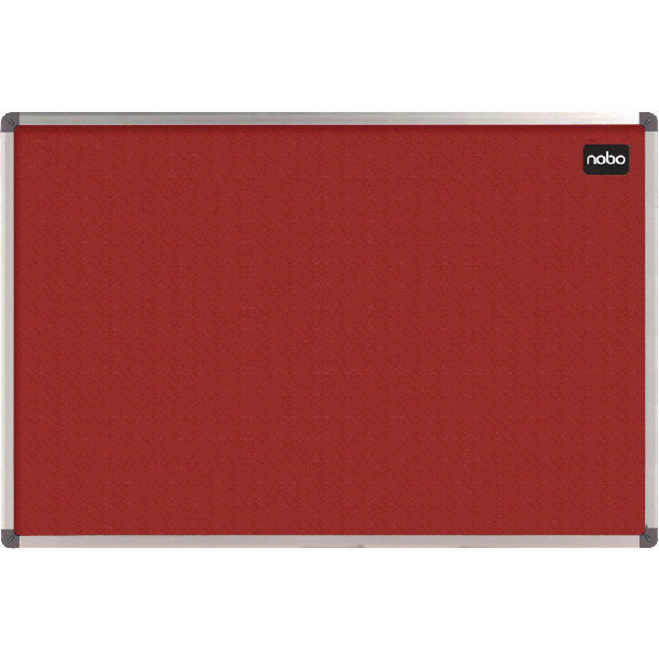 Nobo Classic Felt Noticeboard 1200x900mm Red 1902260