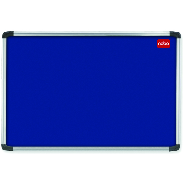 Nobo 900x600mm Aluminium Frame Blue Notice Board 30230174