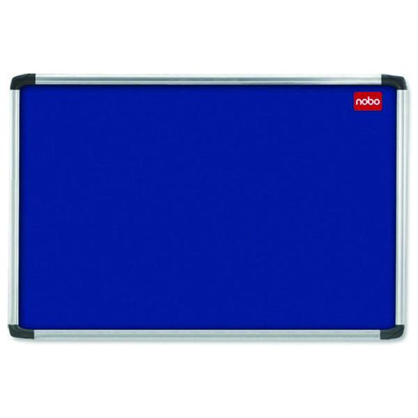 Nobo 1800x1200mm Aluminium Frame Blue Notice Board 30230184