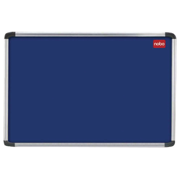 Nobo 2400x1200mm Aluminium Frame Blue Notice Board 30230185