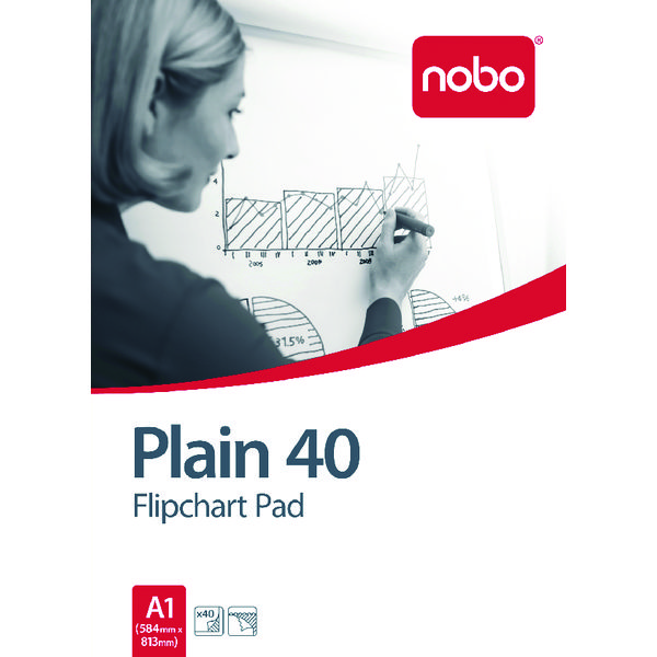 Nobo Plain Flipchart Pad A1 40 Sheet (Pack of 5) 34631165