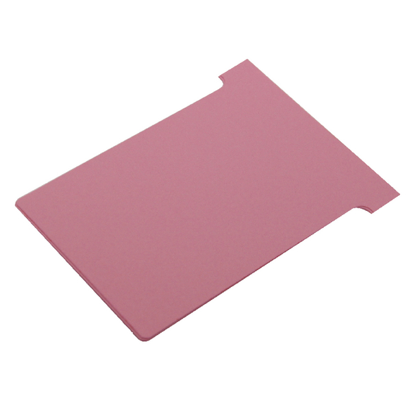 Image for Nobo Pink A110 Size 4 T-Cards (Pack of 100) 32938927