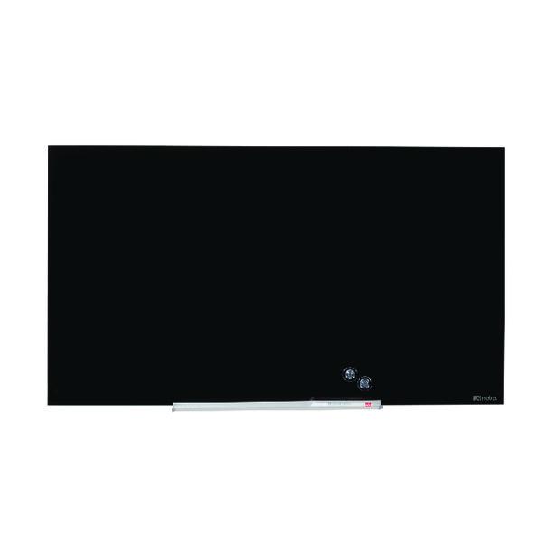 Nobo Widescreen Glass Whiteboard 85 inch Black 1905182