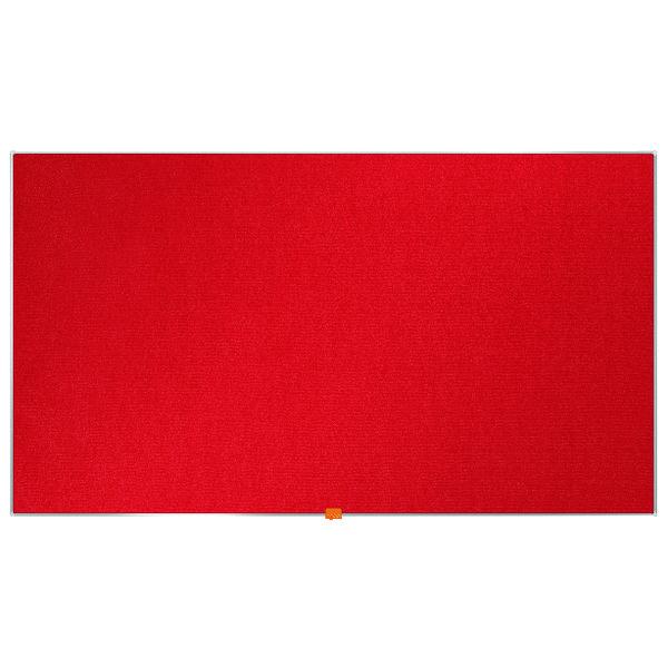 Nobo Widescreen Felt Noticeboard 1220x690mm Red 1905312