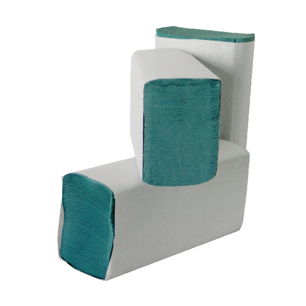 Leonardo M Fold 1-Ply Green Hand Towel (3000 Pack) HMG130