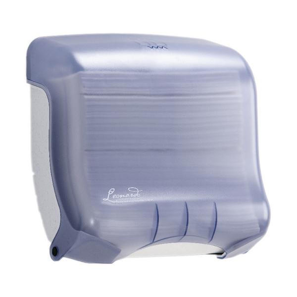 Leonardo Small Blue M Fold Hand Towel Dispenser 500 Sheet Capacity DSHOB6