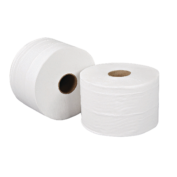 Leonardo Versatwin 2-Ply White Toilet Roll 100m Pack of 24 JSL100