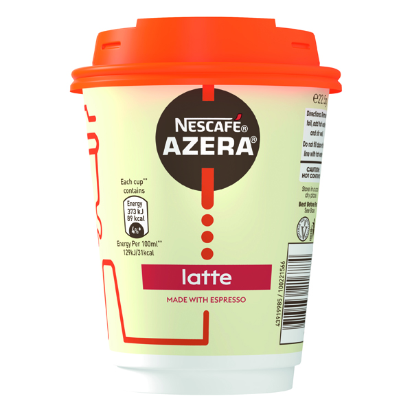 Nescafe Azera To Go Latte Cup and Lids (Pack of 6) 12367627