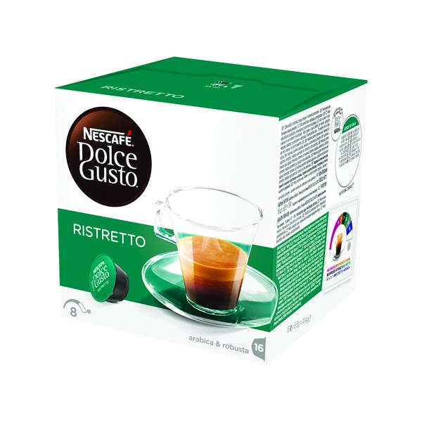 Nescafe Dolce Gusto Espresso Ristretto Capsules (Pack of 48) 12219255