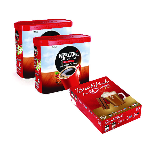 Nescafe Instant Coffee 750g Buy 2 and get a Free Break Pack NL81939