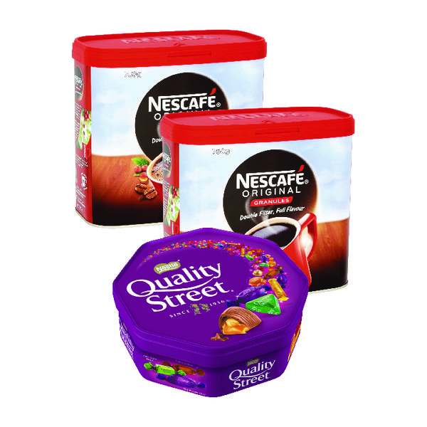 Nescafe Original Instant Coffee 750g Buy 2 Get FOC Quality Street 720g