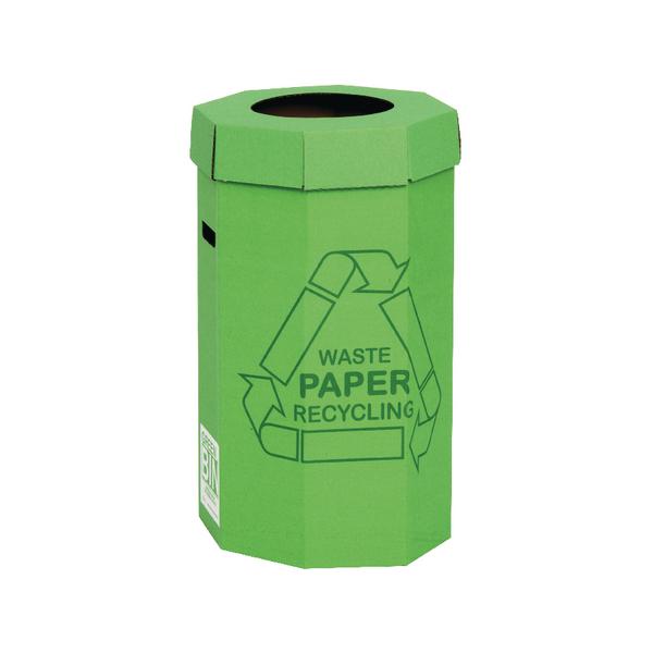 Acorn Cardboard Recycling Bin 60 Litre Green (Pack of 5) 402565