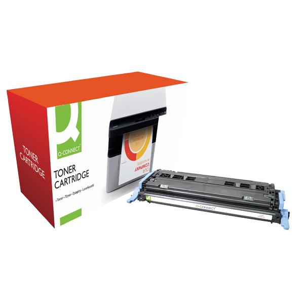 Q-Connect HP 124A Remanufactured Black Laserjet Toner Cartridge Q6000A