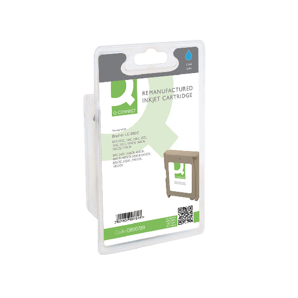 Image for Q-Connect Brother Remanufactured Cyan Inkjet Cartridge LC1000C