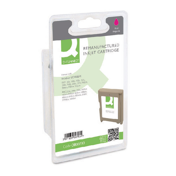 Image for Q-Connect Remanufactured Magenta Inkjet Cartridge LC1000M