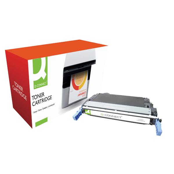 Q-Connect HP 644A Remanufactured Black Laserjet Toner Cartridge Q6460A