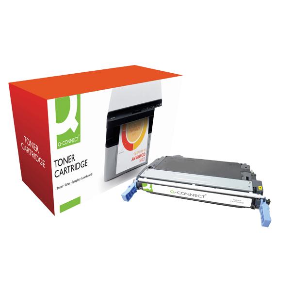 Q-Connect HP 644A Remanufactured Yellow Laserjet Toner Cartridge Q6462A