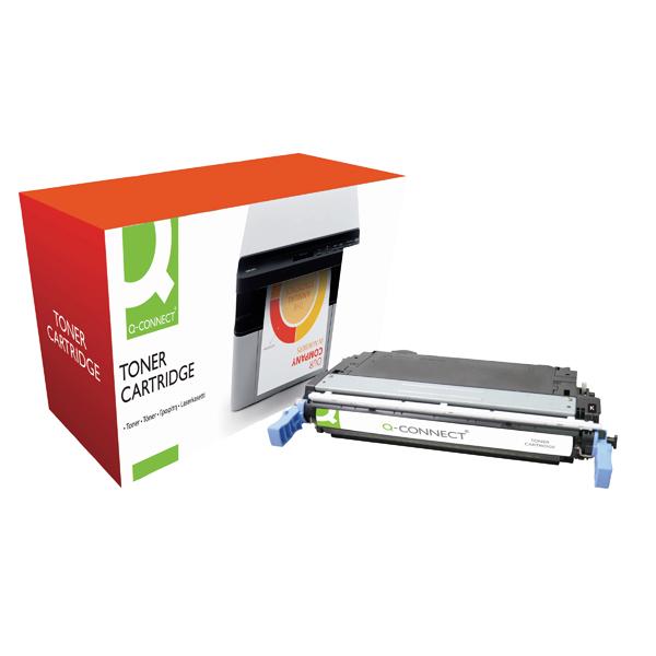 Q-Connect HP 642A Remanufactured Black Laserjet Toner Cartridge CB400A