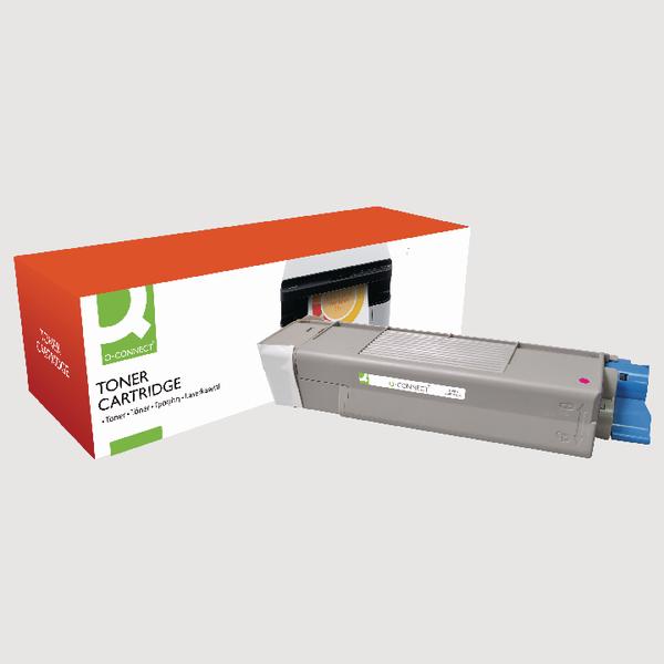 Q-Connect Oki Remanufactured Magenta Toner Cartridge 43872306