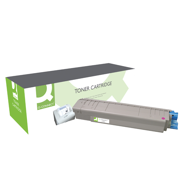 Q-Connect Remanufactured OKI MC861 Laser Toner Cartridge High Yield Magenta 44059254-COMP