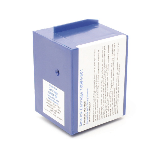 Image for Q-Connect Pitney Bowes Remanufactured Blue Franking Ink Cartridge 765-9RN/765-95B/765-9BN