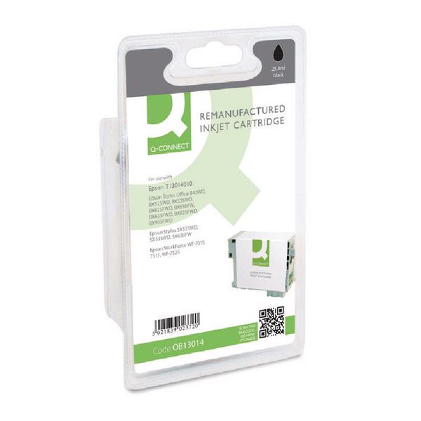 Q-Connect Epson T1301 Remanufactured Black Inkjet Cartridge C13T13014010 / T130140