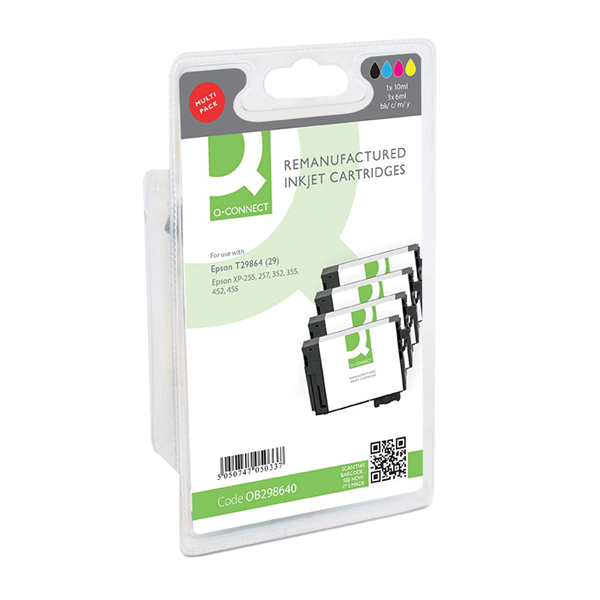 Q-Connect Epson T29864 Ink Cartridge (Pack of 4) Strawberry T298640-COMP