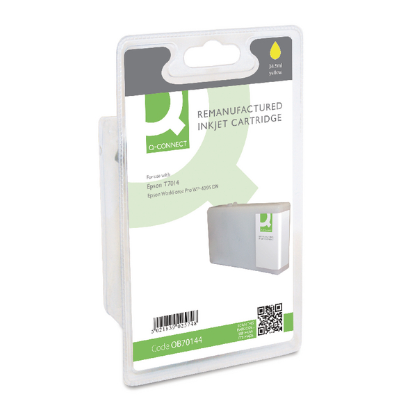 Q-Connect Epson T7014 Remanufactured Yellow Inkjet Cartridge C13T70144010 / T701440