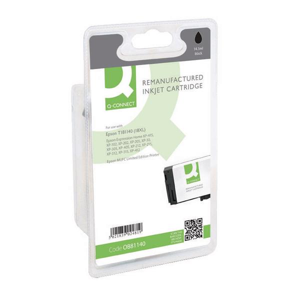 Q-Connect Epson 18XL Black Ink Cartridge