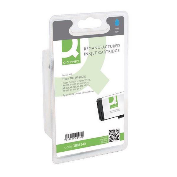 Q-Connect Epson 18XL Cyan Ink Cartridge