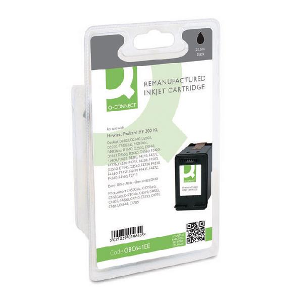 Q-Connect HP 300XL Remanufactured Black Inkjet Cartridge High Yield CC641EEABB