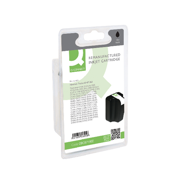 Q-Connect HP 363XL Remanufactured Black Inkjet Cartridge High Yield C8719EE