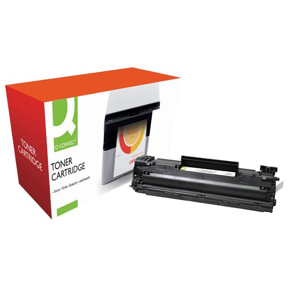 Q-Connect Compatible Solution HP 35A Black Laserjet Toner Cartridge CB435A