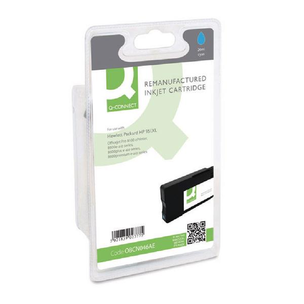 Q-Connect HP 951XL Remanufactured Cyan Inkjet Cartridge High Yield CN046AE