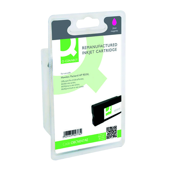 Q-Connect HP 951XL Remanufactured Magenta Inkjet Cartridge High Yield CN047AE