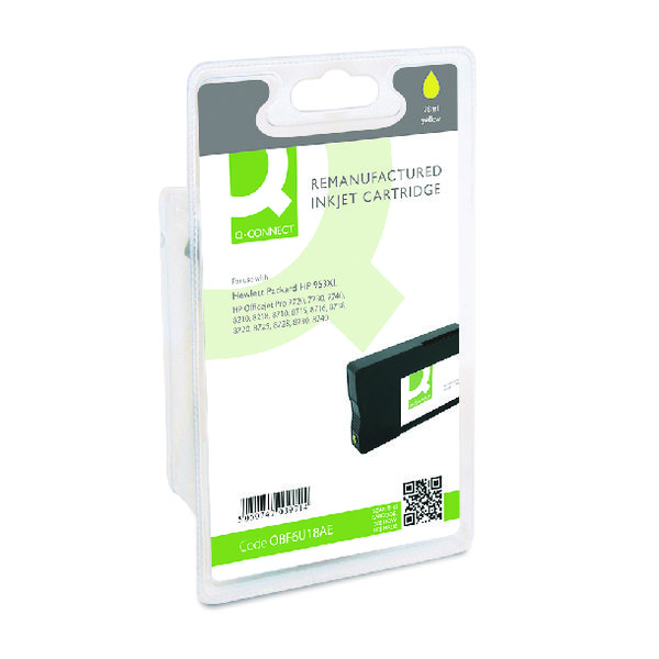 Q-Connect HP 953XL F6U18AE Ink Cartridge Yellow HY F6U18AE-COMP
