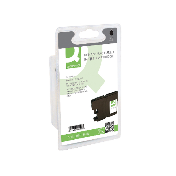 Q-Connect Brother Remanufactured Black Inkjet Cartridge LC1100BK