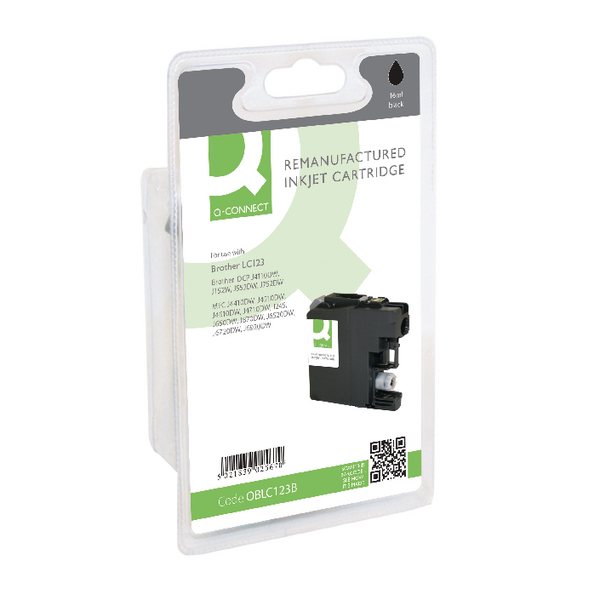 Q-Connect Brother Remanufactured Black Inkjet Cartridge LC123BK