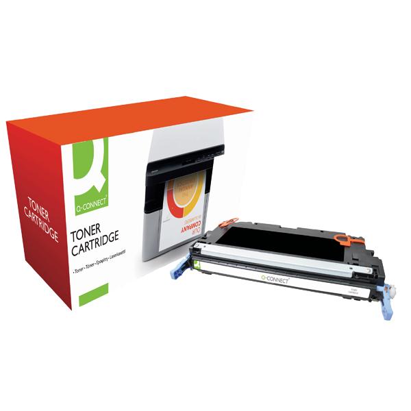 Q-Connect HP 501A Remanufactured Black Laserjet Toner Cartridge Q6470A